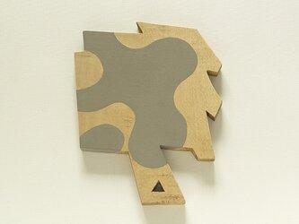 木彫手鏡(sharp and obtuse)の画像