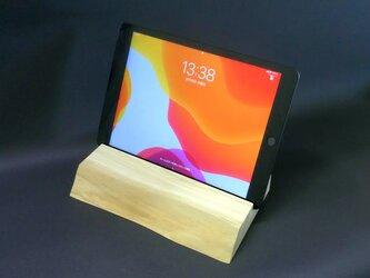 ヒノキ iPadタブレットスタンド 戊-tsuchinoeの画像