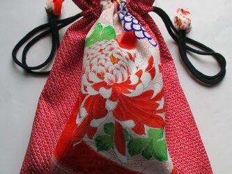 4838 お宮参り着で作った巾着袋 #送料無料の画像