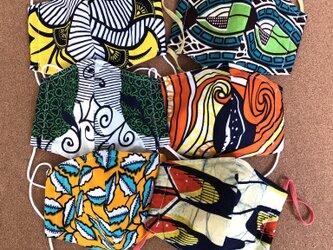 オーダー品 アフリカ布マスク 6枚セットの画像