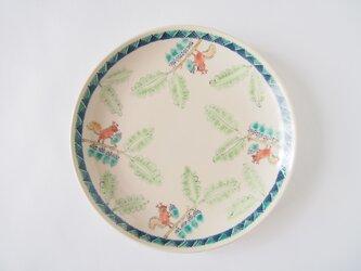 6寸皿(ドングリとリス)の画像
