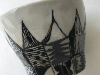 陶芸 手びねり 手作り カップ 色絵つけの画像