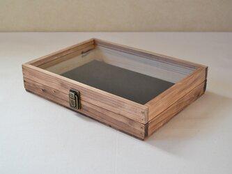 0310≪木製マスクケース≫国産ひのきとクリアガラスのコレクションケースLサイズの画像