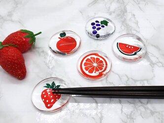 フルーツの箸置き - オレンジ -の画像