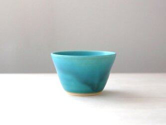 【再販】トルコ青マット釉のフリーカップ * 2の画像