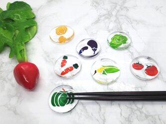 野菜の箸置き - なす -の画像