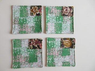 花咲く森のコースター ~4枚セット~の画像