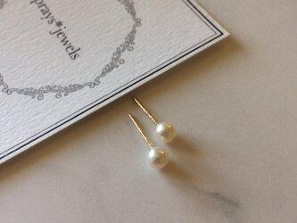 【パールSALE】14kgf Pearl stud(池蝶真珠)4mmの画像
