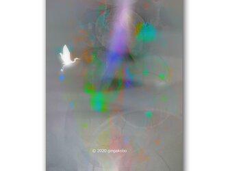 「胸の中のしいんとしたヒカリ」 ほっこり癒しのイラストポストカード2枚組 No.1053の画像