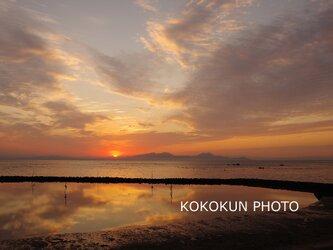 有明海の朝の風景10「ポストカード5枚セット」の画像