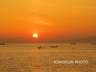 有明海の朝の風景11「ポストカード5枚セット」の画像