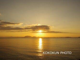 有明海の朝の風景12「ポストカード5枚セット」の画像