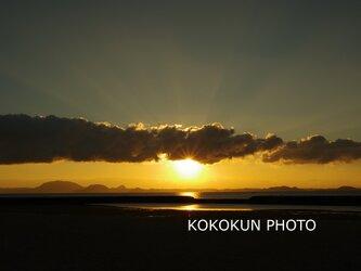 有明海の朝の風景13「ポストカード5枚セット」の画像