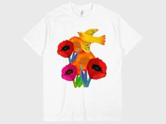 フラワープリントTシャツ(送料無料) 受注生産品の画像