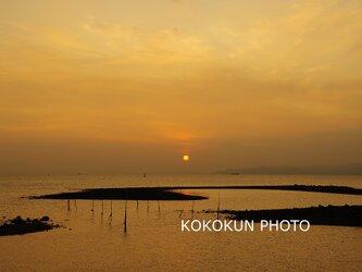 有明海の朝の風景15「ポストカード5枚セット」の画像
