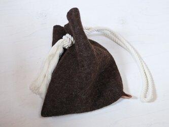 wool と cottonでつくられた 3way テトラbag 2.の画像