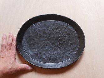 だ円トレー303x245 黒 #0227の画像