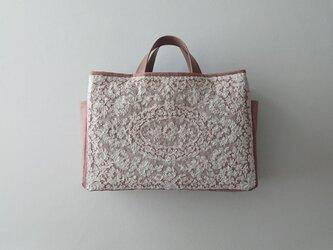 antique france lace bag [smoke pink]の画像