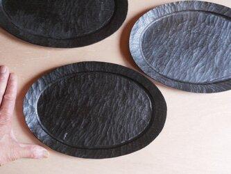 オーバル皿 270x180 黒 #0233の画像