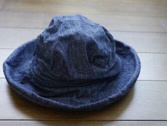 デニム ツバ広帽子 ...9617の画像