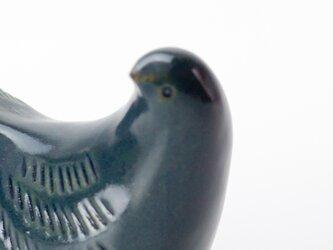 置物 鳥(大) サビ青の画像
