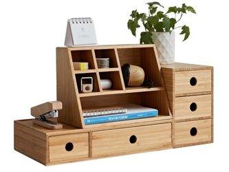 受注生産 職人手作り 収納ボックスセット 卓上収納 デスク オフィス 引き出し型 おしゃれ 竹 バンブー 家具 天然木の画像