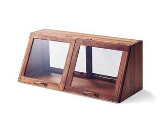 受注生産 職人手作り ショーケース スパイスラック 薬味棚 天然木 家具 収納 キッチン ダイニング 木目 無垢材 エコの画像