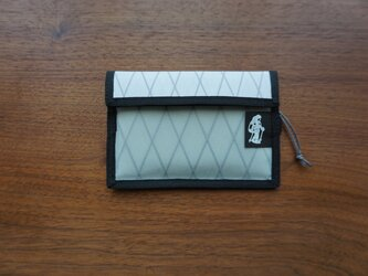 flap pouch  x-pac white×light greyの画像