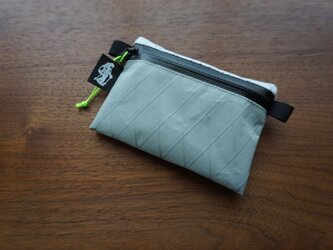 flat pouch S⁺ combo light grey×whiteの画像