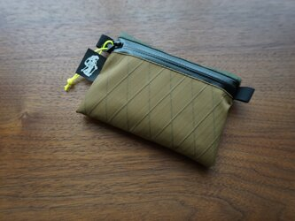 flat pouch S⁺ combo coyote×dark greenの画像