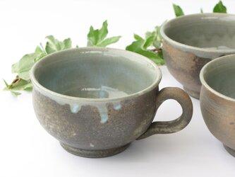 炭化のスープカップの画像