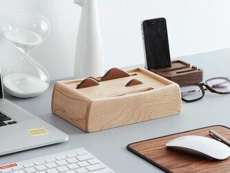 受注生産 職人手作り ティッシュボックス ナチュラル シンプル 自然派 木製 木目 木工 天然木 無垢材 モダン エコの画像