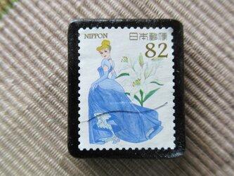 アップサイクル 切手ブローチ 6153の画像