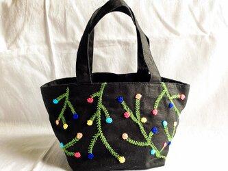 イロイロお花のバッグ(綿生地)の画像