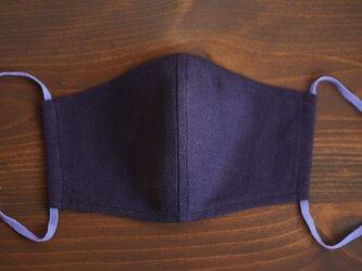 【プラムパープル/立体マスク】数量限定! リネンマスク 2重仕様 リネン100% 抗菌 防臭 速乾/z021g-ppe2の画像