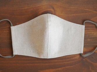 【亜麻ナチュラル/立体マスク】数量限定! リネンマスク 2重仕様 リネン100% 抗菌 防臭 速乾/z021g-amn2の画像