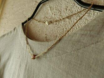 *翡翠と貝と真鍮でネックレス。@翡翠+白蝶貝+エチオピアンブラスの画像