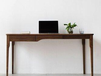 オーダーメイド 職人手作り デスク 学習机 オフィス パソコンデスク 収納 家具 天然木 木目 木工 サイズオーダー可の画像
