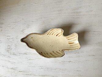 しろの鳥のうつわ(粉引・小)の画像