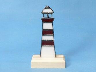 ステンドグラス 灯台 置物 Rの画像