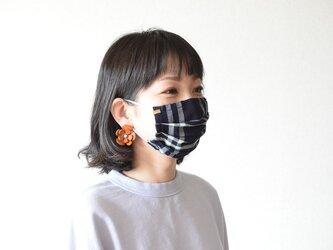 【コットンチェックマスク】 Buddyの画像