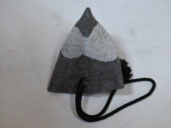 wool と cottonでつくられた 3way テトラbag 4.の画像