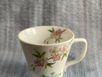 マグカップ  小ぶり  桜絵の画像