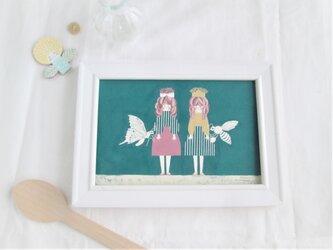 「レンゲとキンポウゲ」ポストカード2枚セットの画像