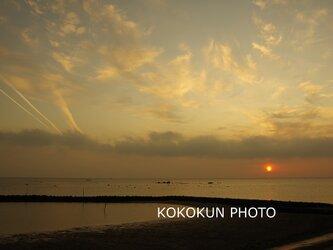 有明海の朝の風景16「ポストカード5枚セット」の画像