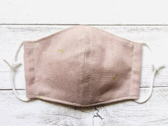 ダブルガーゼ★キッズ立体マスク【リボン柄pink】の画像