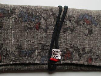 4841 麻の着物で作った和風財布・ポーチ #送料無料の画像
