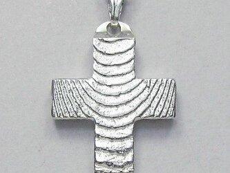 縞目光沢仕上げの幅広のギリシャ十字架 gc06 新作ですの画像