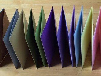 アコーデイオン式ノート B6判 12色両面の画像