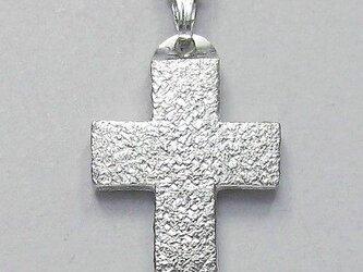 梨地光沢仕上げの幅広のギリシャ十字架 gc07 新作ですの画像